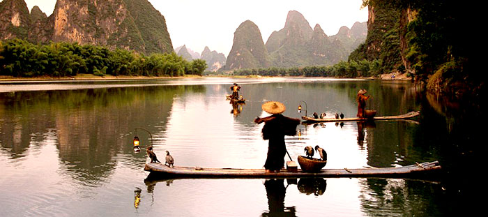 Li river at sunset